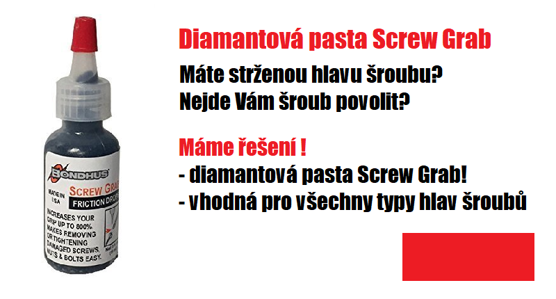 Diamantová pasta Screw Grab